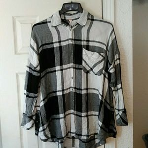 Free people long sleeve button up shirt